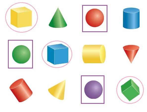 Big-Ideas-Math-Book-Grade-K-Answer-Key-Chapter-12-Identify-Three-Dimensional Shapes-Lesson-12.3-Cubes-and-Spheres-Think-and-Grow