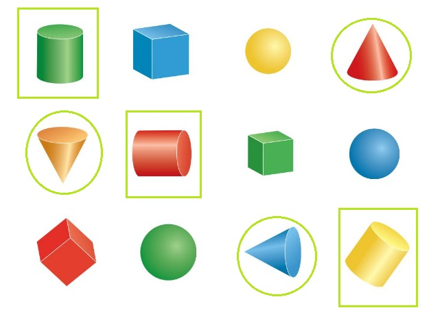 Big-Ideas-Math-Book-Grade-K-Answer-Key-Chapter-12-Identify-Three-Dimensional Shapes-Lesson-12.4-Cones-and-Cylinders-Think-and-Grow