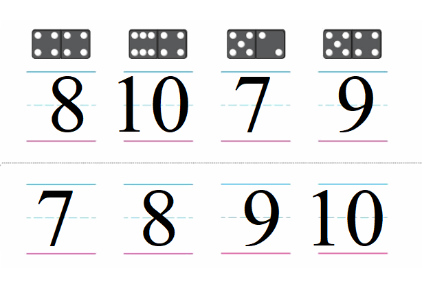 Big-Ideas-Math-Book-Grade-K-Answer-Key-Chapter 3-Count-and-Write-Numbers-6 to 10-Lesson-Lesson 3.10 Understand and Write 10-Count and Order Numbers to 10 Homework & Practice 3.11.2