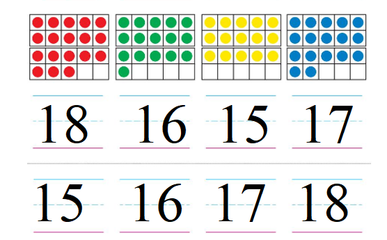 Big-Ideas-Math-Book-Grade-K-Answer-Key-Chapter-9-Count-and-Compare-Numbers-to-20-Lesson 9.5-Order Numbers to 20-Order Numbers to 20 Homework & Practice 9.5.2