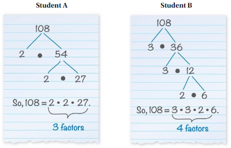 Big Ideas Math Solutions Grade 6 Advanced Chapter 1 Numerical Expressions and Factors 24