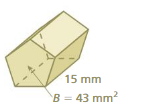 Big Ideas Math Solutions Grade 7 Chapter 10 Surface Area and Volume 10.4 26