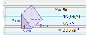 Big Ideas Math Solutions Grade 7 Chapter 10 Surface Area and Volume 10.4 28
