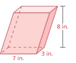 Big Ideas Math Solutions Grade 7 Chapter 10 Surface Area and Volume 10.4 8