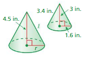 Big Ideas Math Solutions Grade 8 Chapter 10 Volume and Similar Solids 10.4 24