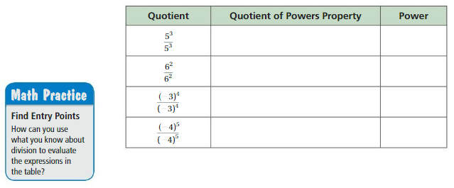 Big Ideas Math Solutions Grade 8 Chapter 8 Exponents and Scientific Notation 8.4 1
