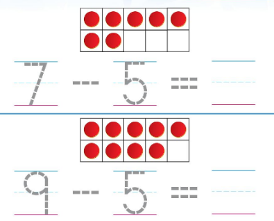 Big Ideas Math Solutions Grade K Chapter 7 Subtract Numbers within 10 7.6 2
