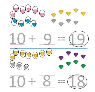 Big-Ideas-Math-Solutions-Grade-K-Chapter-8-Represent Numbers 11 to 19-8.11-01