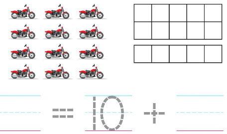 Big Ideas Math Solutions Grade K Chapter 8 Represent Numbers 11 to 19 8.3 3