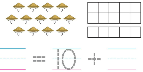 Big Ideas Math Solutions Grade K Chapter 8 Represent Numbers 11 to 19 chp 8