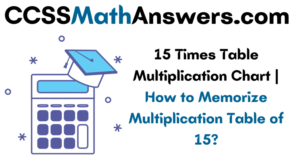 15 Times Table Multiplication Chart