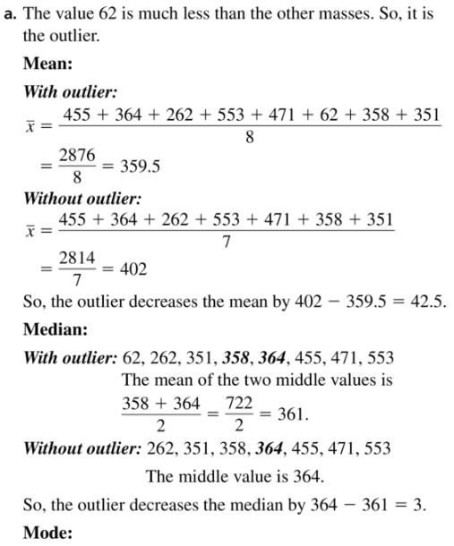 Big Ideas Math Algebra 1 Answer Key Chapter 11 Data Analysis and Displays 11.1 a15.1