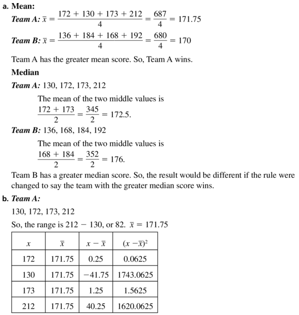 Big Ideas Math Algebra 1 Answer Key Chapter 11 Data Analysis and Displays 11.1 a31.1
