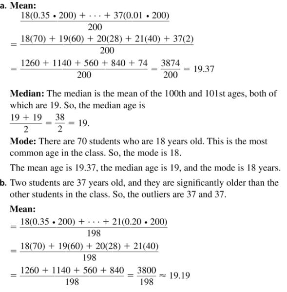 Big Ideas Math Algebra 1 Answer Key Chapter 11 Data Analysis and Displays 11.1 a39.1
