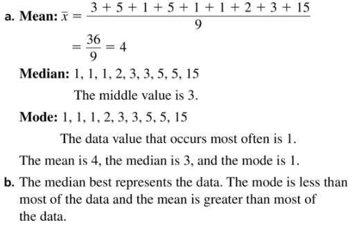 Big Ideas Math Algebra 1 Answer Key Chapter 11 Data Analysis and Displays 11.1 a5