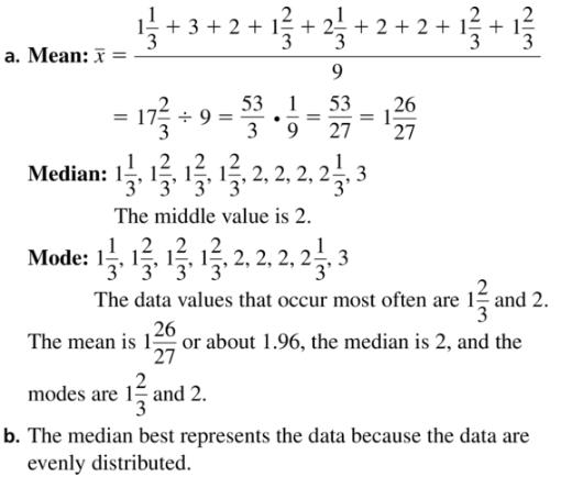 Big Ideas Math Algebra 1 Answer Key Chapter 11 Data Analysis and Displays 11.1 a9