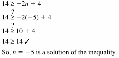 Big Ideas Math Algebra 1 Answer Key Chapter 2 Solving Linear Inequalities 2.1 Question 21