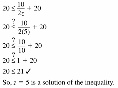 Big Ideas Math Algebra 1 Answer Key Chapter 2 Solving Linear Inequalities 2.1 Question 23