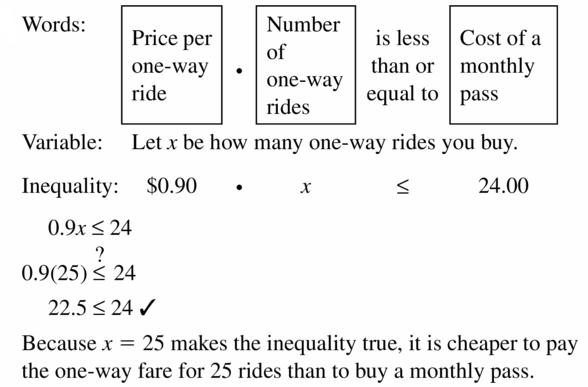 Big Ideas Math Algebra 1 Answer Key Chapter 2 Solving Linear Inequalities 2.1 Question 51