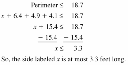 Big Ideas Math Algebra 1 Answer Key Chapter 2 Solving Linear Inequalities 2.2 Question 33