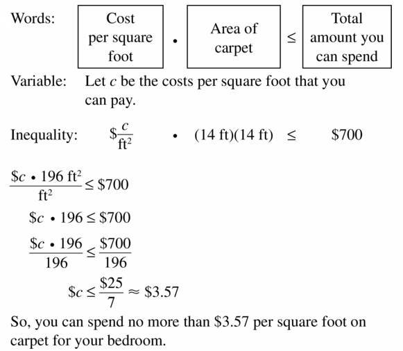 Big Ideas Math Algebra 1 Answer Key Chapter 2 Solving Linear Inequalities 2.3 Question 29