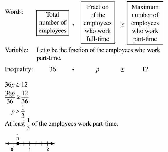 Big Ideas Math Algebra 1 Answer Key Chapter 2 Solving Linear Inequalities 2.3 Question 39