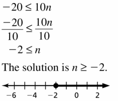 Big Ideas Math Algebra 1 Answer Key Chapter 2 Solving Linear Inequalities 2.3 Question 5