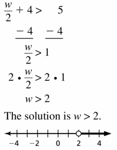 Big Ideas Math Algebra 1 Answer Key Chapter 2 Solving Linear Inequalities 2.4 Question 11