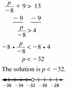 Big Ideas Math Algebra 1 Answer Key Chapter 2 Solving Linear Inequalities 2.4 Question 13
