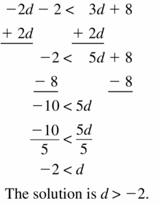 Big Ideas Math Algebra 1 Answer Key Chapter 2 Solving Linear Inequalities 2.4 Question 19