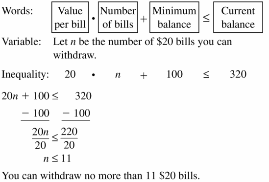 Big Ideas Math Algebra 1 Answer Key Chapter 2 Solving Linear Inequalities 2.4 Question 31
