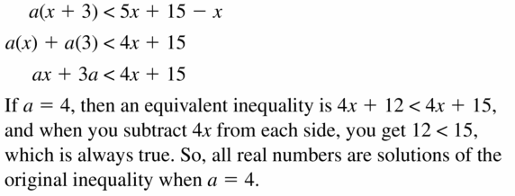 Big Ideas Math Algebra 1 Answer Key Chapter 2 Solving Linear Inequalities 2.4 Question 39