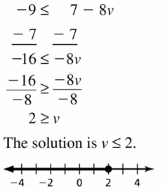 Big Ideas Math Algebra 1 Answer Key Chapter 2 Solving Linear Inequalities 2.4 Question 9