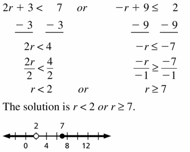 Big Ideas Math Algebra 1 Answer Key Chapter 2 Solving Linear Inequalities 2.5 Question 17