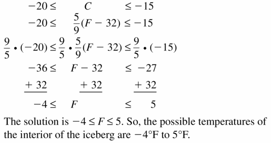 Big Ideas Math Algebra 1 Answer Key Chapter 2 Solving Linear Inequalities 2.5 Question 23
