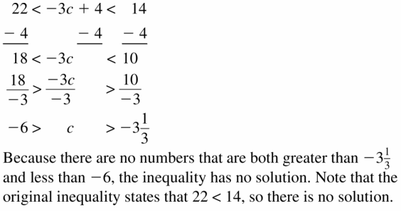 Big Ideas Math Algebra 1 Answer Key Chapter 2 Solving Linear Inequalities 2.5 Question 25