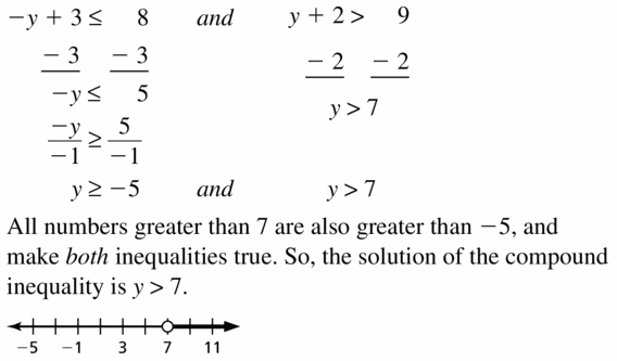 Big Ideas Math Algebra 1 Answer Key Chapter 2 Solving Linear Inequalities 2.5 Question 27