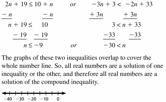 Big Ideas Math Algebra 1 Answer Key Chapter 2 Solving Linear Inequalities 2.5 Question 29