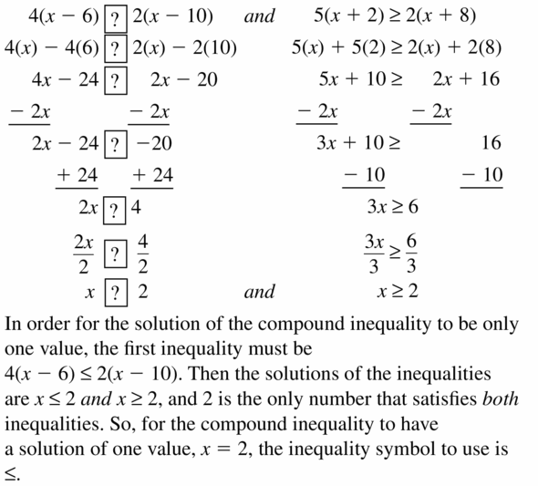 Big Ideas Math Algebra 1 Answer Key Chapter 2 Solving Linear Inequalities 2.5 Question 31