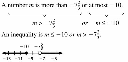 Big Ideas Math Algebra 1 Answer Key Chapter 2 Solving Linear Inequalities 2.5 Question 9