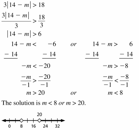 Big Ideas Math Algebra 1 Answer Key Chapter 2 Solving Linear Inequalities 2.6 Question 13