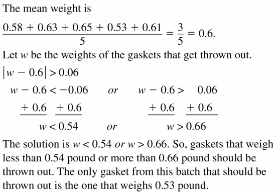Big Ideas Math Algebra 1 Answer Key Chapter 2 Solving Linear Inequalities 2.6 Question 27