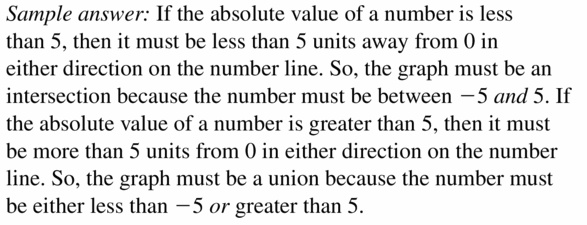 Big Ideas Math Algebra 1 Answer Key Chapter 2 Solving Linear Inequalities 2.6 Question 39