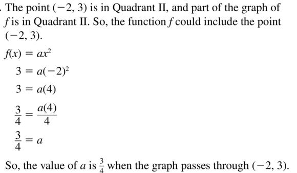 Big Ideas Math Algebra 1 Answer Key Chapter 8 Graphing Quadratic Functions 8.1 a 23