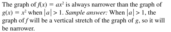 Big Ideas Math Algebra 1 Answer Key Chapter 8 Graphing Quadratic Functions 8.1 a 27