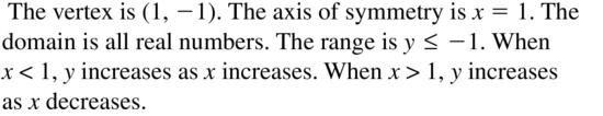 Big Ideas Math Algebra 1 Answer Key Chapter 8 Graphing Quadratic Functions 8.1 a 3