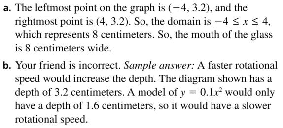 Big Ideas Math Algebra 1 Answer Key Chapter 8 Graphing Quadratic Functions 8.1 a 31