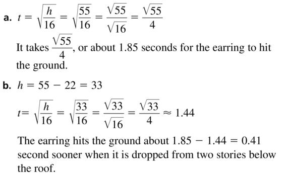 Big Ideas Math Algebra 1 Answer Key Chapter 9 Solving Quadratic Equations 9.1 a 61