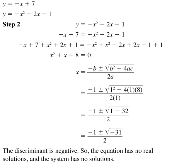 Big Ideas Math Algebra 1 Answer Key Chapter 9 Solving Quadratic Equations 9.6 a 15