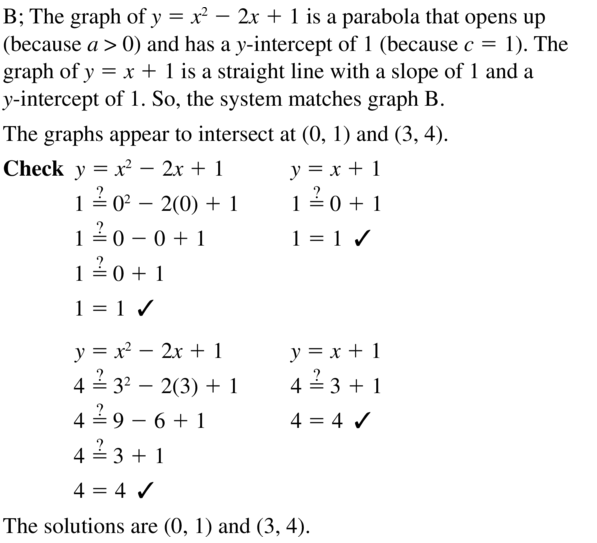 Big Ideas Math Algebra 1 Answer Key Chapter 9 Solving Quadratic Equations 9.6 a 3